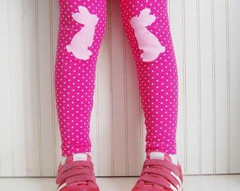 Girls Toddler Leggings. Bunny Leggings. Girls Leggings. Polka Dot Leggings. Girls Pink Leggings. 3T. Girls Easter Leggings. Kids Leggings.