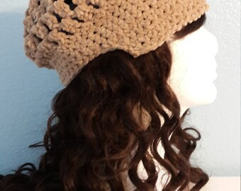 Beige Crocheted Hat