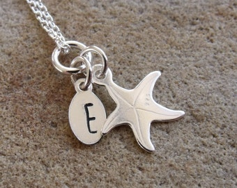Kids/Adults Personalised Silver Starfish Necklace