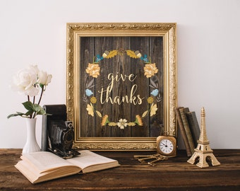 Thanksgiving print, room decor, fall printable art, autumn decoration, thanksgiving art, autumn art print, fall art, thanksgiving BD-435