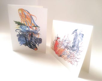 Blank note cards.  Image of your choice.