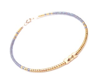 Gold and Silver Bracelet Elegant Bracelet Contemporary jewelry Skinny Bracelet