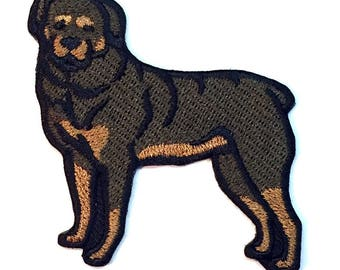 Rottweiler Iron on Patch No Name