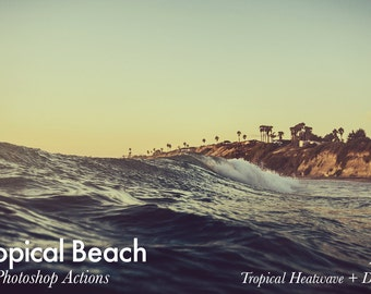 Tropical Beach - 19 Photoshop Actions INSTANT DOWNLOAD
