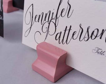Cute Curves Weighted Place Card Holder - Dusty Rose (Sample Quantities)