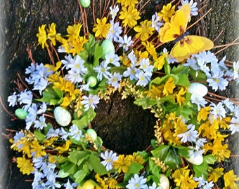 spring wreath decoration, summer decoration, front door easter decoration