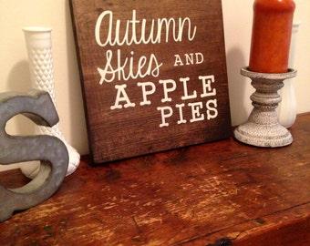 Fall Sign, Rustic Sign, Wood Sign, Fall Decor, Rustic Fall Decor, Custom Sign, Custom Wooden Sign, Home Decor, Wall Decor, Wedding Sign