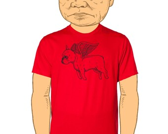Flying French Bulldog Mens T-Shirt Small, Medium, Large, XL, XXL in 7 Colors