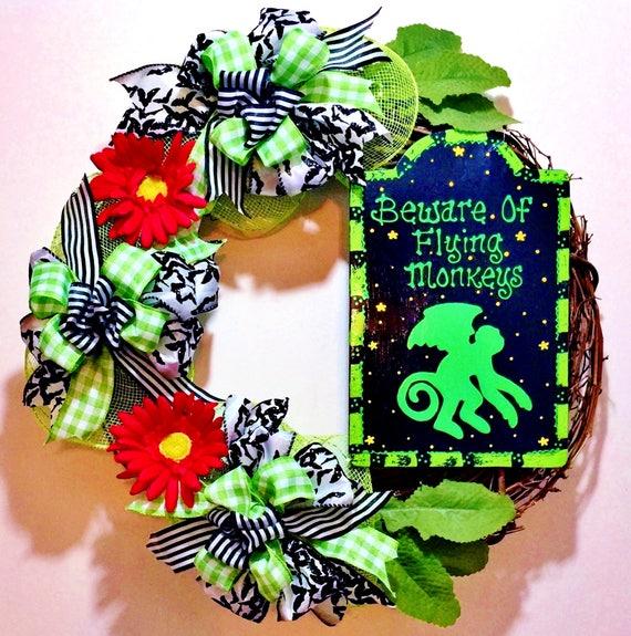 Beware of Flying Monkeys Wizard of Oz - Welcome Door Wreath