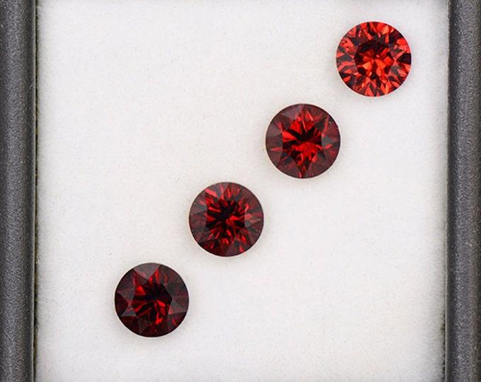 FLASH SALE! Beautiful Crimson Red Rhodolite Garnet Gemstone Set from Tanzania 3.71 tcw.
