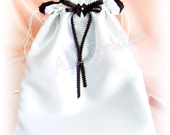 Bridal drawstring bag, wedding dollar dance satin bag.  Bridal accessories.