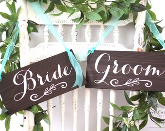 Wedding Chair Signs Bride and Groom | Chair Signs | Wedding Chair Signs | Bride and Groom Sign | Wedding Decor | Wedding Signs - WS-37
