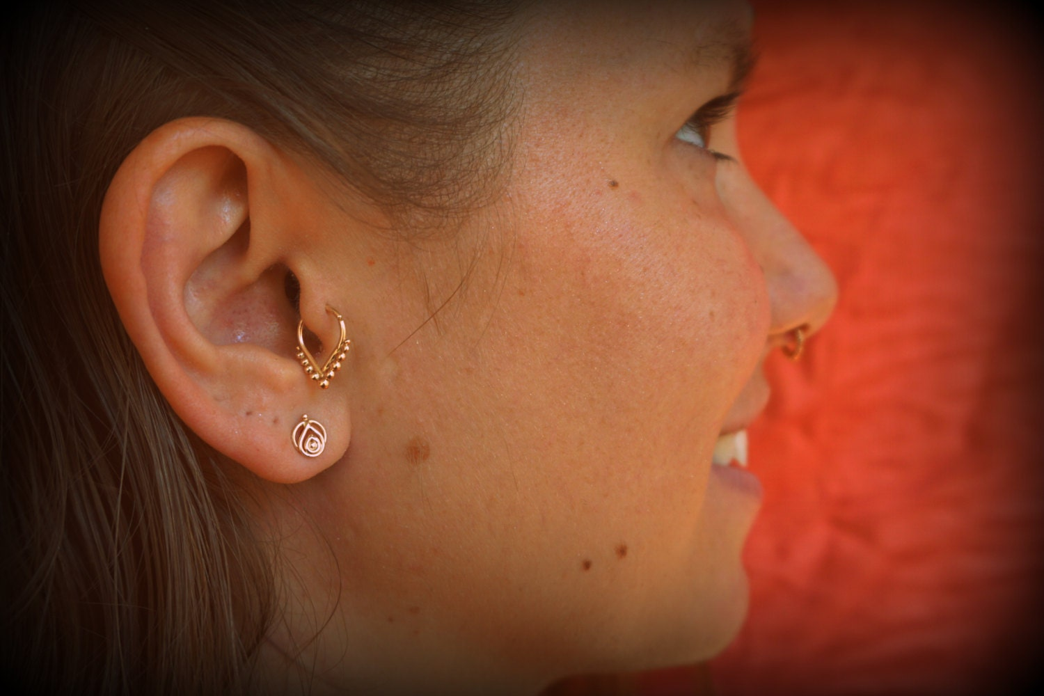 Tragus ring gold tragus earring tragus jewelry tragus
