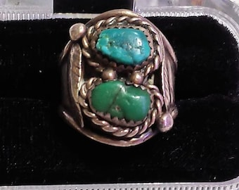 Men's Turquoise & Sterling Ring