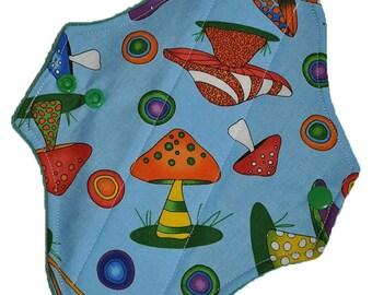 Light Core- Jumbo Shrooms Reusable Cloth Pantyliner Pad- WindPro Fleece- 8.5 Inches