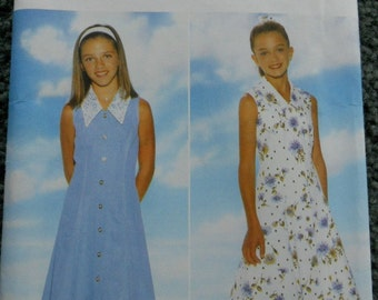 Butterick 4836 Fast and Easy  It's Enchanting sizes girls 7-8-10