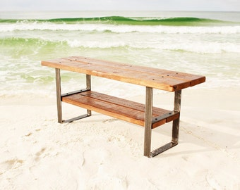 Wood bench, bench, rustic bench, reclaimed wood bench, furniture, reclaimed wood, seating, entryway bench, wood furniture, wooden bench