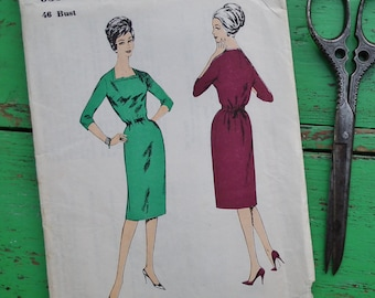 """Vintage Sewing Pattern 50s 60s Womens Dress 46"""" Bust Plus Size / UK Size 20 / US Size 16 Blackmore So-Easy 9397 UK 1950s 1960s dressmaking"""