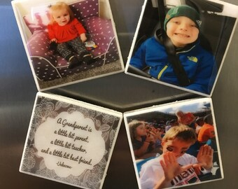 Personalized photo kitchen magnets