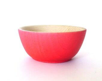 Coupelle en bois rose fluo, plat de bijoux, tasse de sonnerie, porte-bijoux mini
