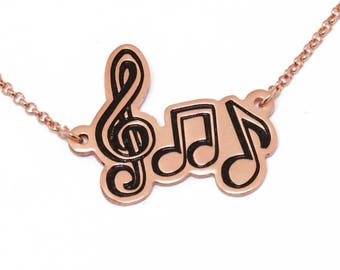 SALE 25% OFF! Music Notes Necklace/Music Pendant/Treble Clef Necklace/Music Charm/Musical jewelry/Clef jewelry/Music note charm/Bass Clef