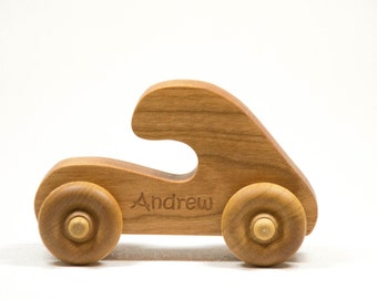 Wooden Toy Push Toy Car Toddler and Baby Childrens Toy, Personalized