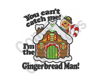 Gingerbread Man - Machine Embroidery Design, Gingerbread House, Christmas