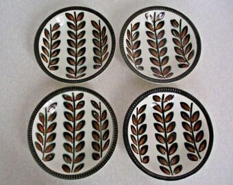 Villiroy Boch Belgium Rambouillet Design Set of 4 Hand Painted Bowls - Dining. Set of Bowls. Serving.