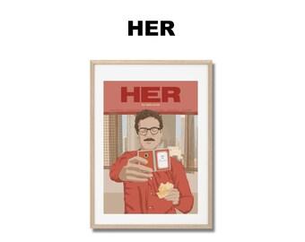 Her - Print - Poster - Spike Jonze  A3