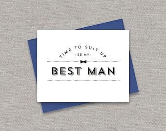 Printable Will you be my Best Man | Suit Up Bow Tie | Best Man, Groomsman, Usher, Ring Bearer, Jr. Groomsman Bundle | No. PW3002