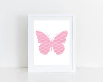 Butterfly Wall Art for Nursery, Instant Download