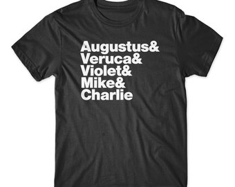 Willy Wonka T-Shirt On Black, White, Red, or Gray Soft Cotton Tee. Charlie and the Chocolate Factory Shirt. Comfy!