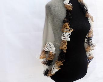 Light bolero Ivory bolero Oversized shrug Evening shrug Trendy plus size Mohair sweater Cocoon sweater Dress cover up Chocolate bolero