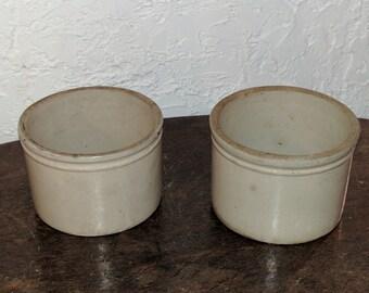 Salt glazed 1/2 gallon crocks w/double rings