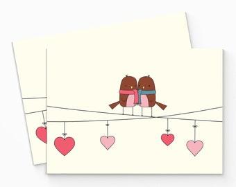 Birds Valentine Card - Printable Valentines Day Card - DIY Love Card - Cute Love Card - Printable Valentines Card - Digital Valentine Card