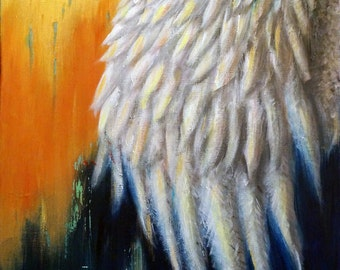 Under His wings-prints of original acrylic painting