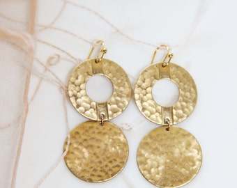 Unique Circular Brass Earrings