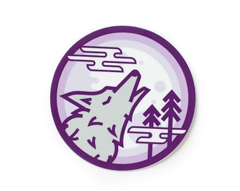 Wolf Cry Vinyl Sticker