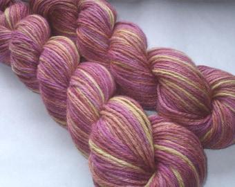 110g (35.45 Euro/100g) 2 skeins, cashmere silk yarn, hand dyed yarn, hand painted yarn, sport weight yarn, SEVEN HILLS, 3.9oz/400yds, 360m