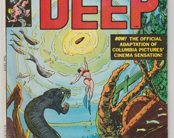 The Deep movie adaptation comic book Pub. 1977 Marvel Peter Benchley Carmine Infantino