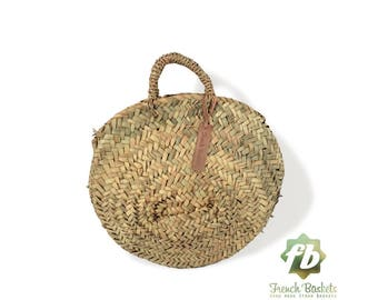 Round French baskets chubby Small :  wicker basket, straw bag, French Baskets, Moroccan Basket, straw basket, Beach Bag