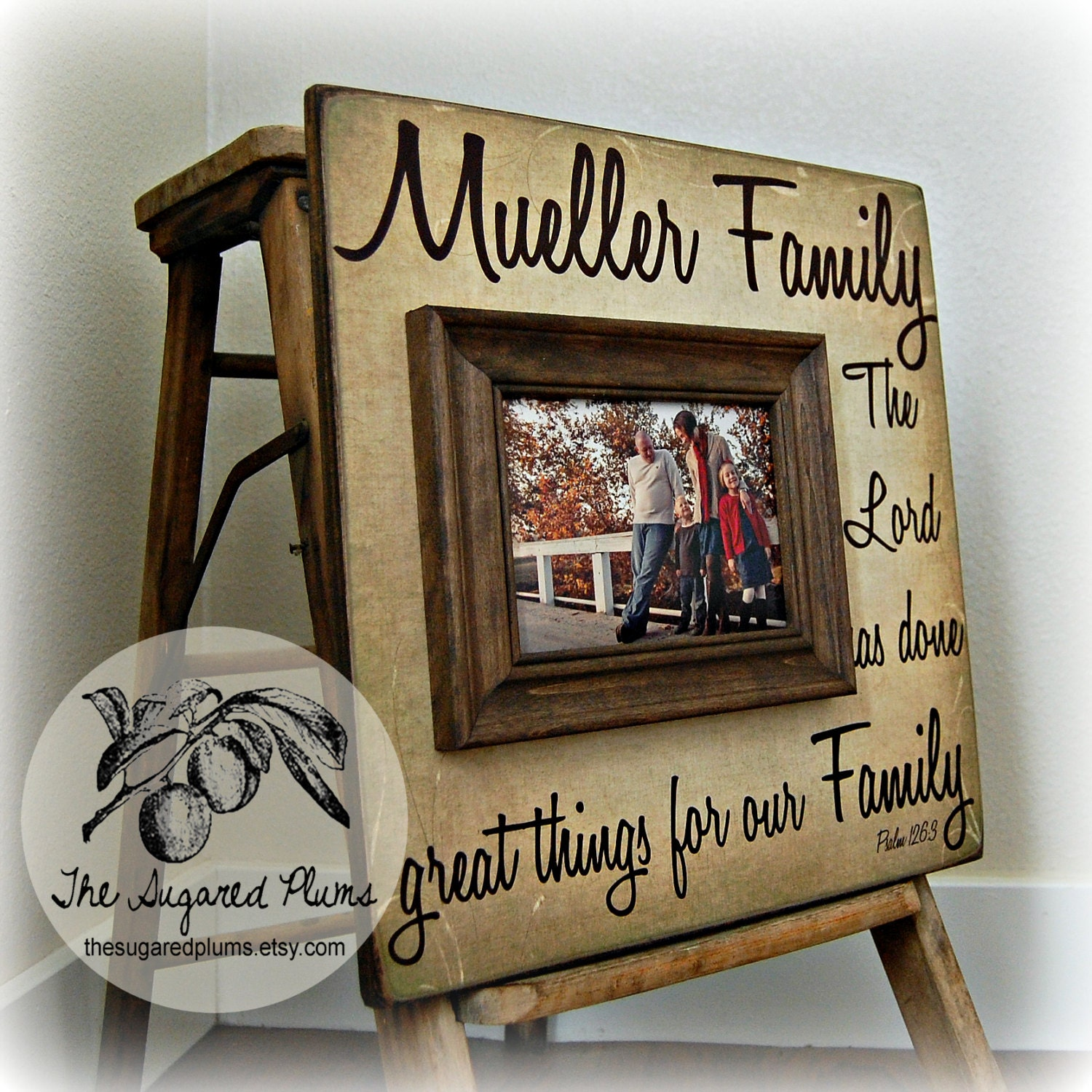 Personalized Family Name Sign, Picture Frame Quote, You Don\'t Choose ...