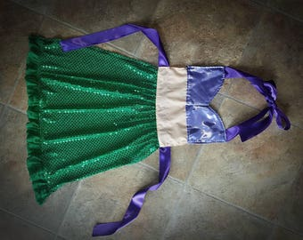 Little mermaid dress up apron