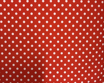 Red Spot Cotton Fabric