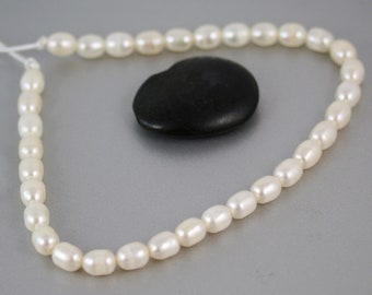 Big Hole Pearls - 33 Pearls - Pearls - 11 1/2 Inches