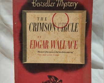 Antique Book - The Crimson Circle by Edgar Wallace (1929)