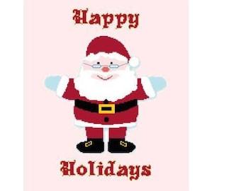 Happy Holidays Cross Stitch Chart