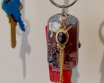 Mod Scarab Jewelry Keychain