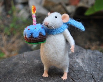 Needle felt mouse  Wool mouse  Felted animal needle felt animal felted miniature cute felt mouse  Felted wool animal wool toy