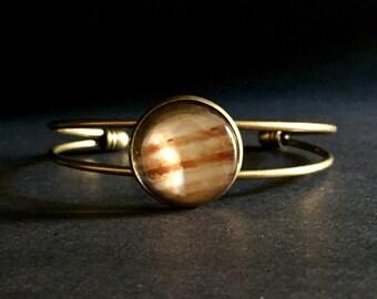 Jupiter Bracelet Planet Jupiter Bangle Bracelet - Planet Jupiter Jewelry - Jupiter Planet Bracelet Jupiter Gift - Planet Jupiter Jewelry